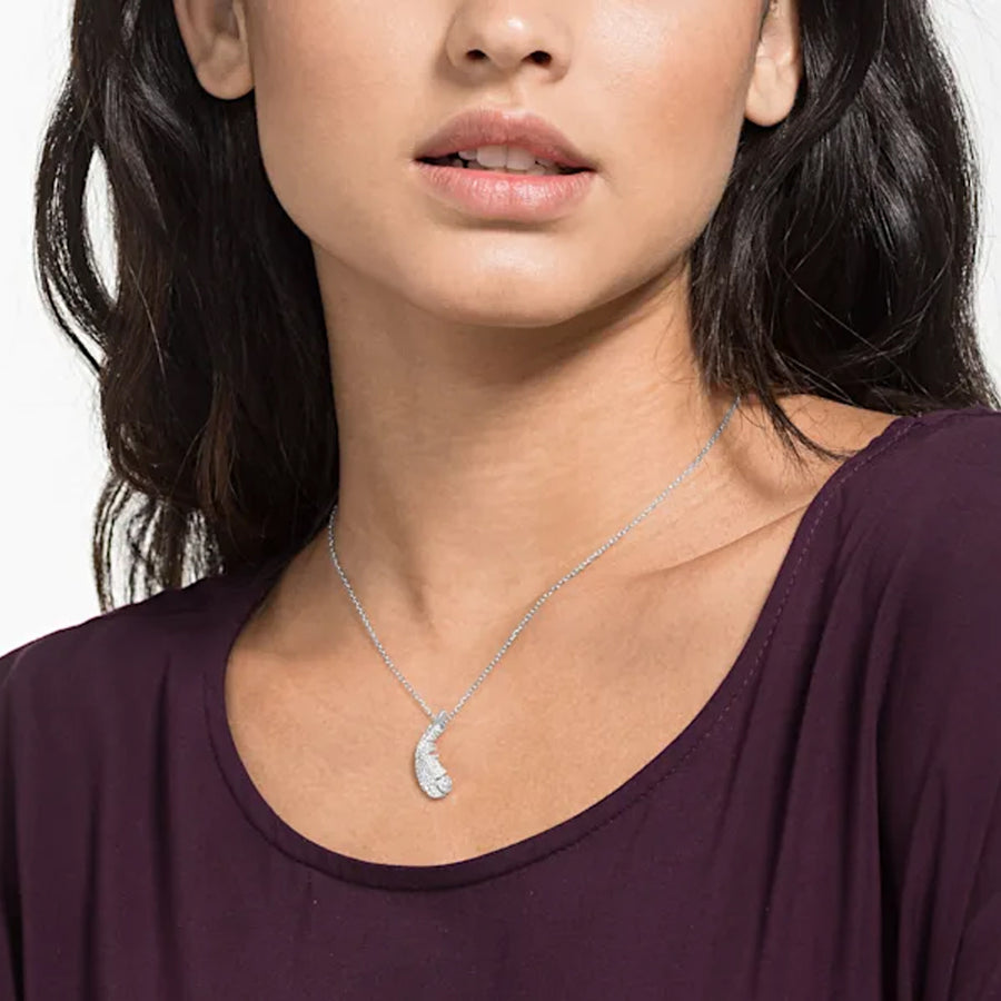 Swarovski NICE NECKLACE, WHITE, RHODIUM PLATED 5482914