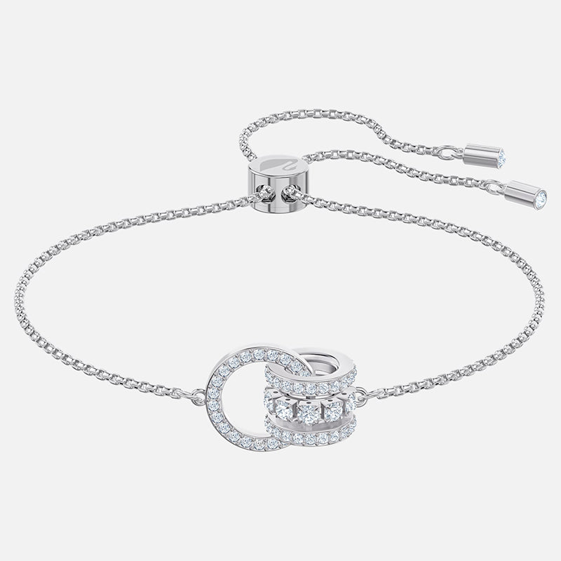 FURTHER BRACELET, WHITE, RHODIUM PLATED 5498999