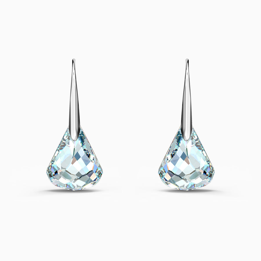 SPIRIT PIERCED EARRINGS, WHITE, RHODIUM PLATED 5516533