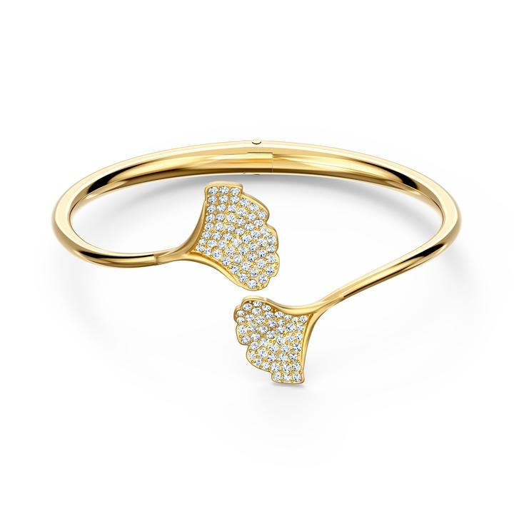 Stunning Ginko Bangle, White, Gold-tone plated 5518170