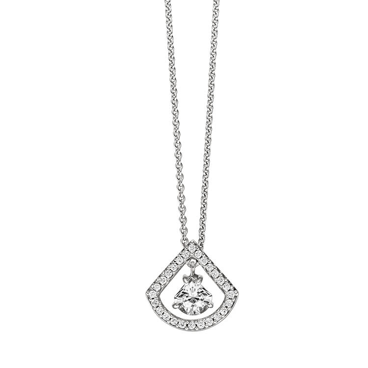 Viventy Double Drop CZ Pendant Necklace 781032