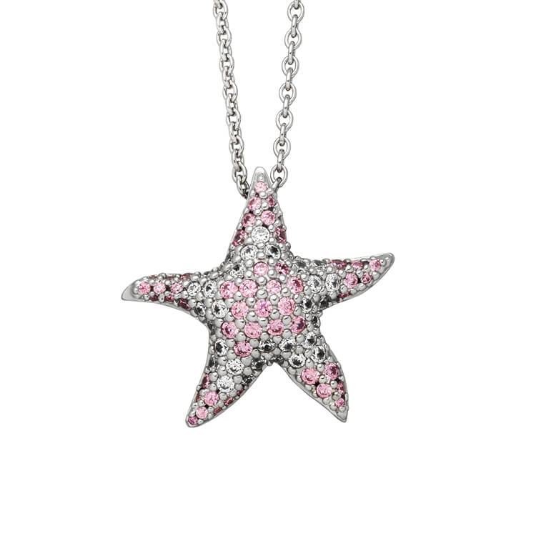 Viventy CZ Coloured Starfish Pendant 781052