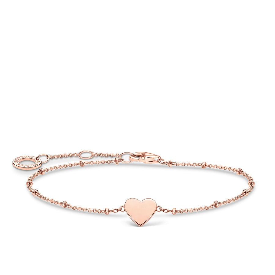 Thomas Sabo Bracelet with Rose-Gold Heart Motif A1991-415-40-L19V