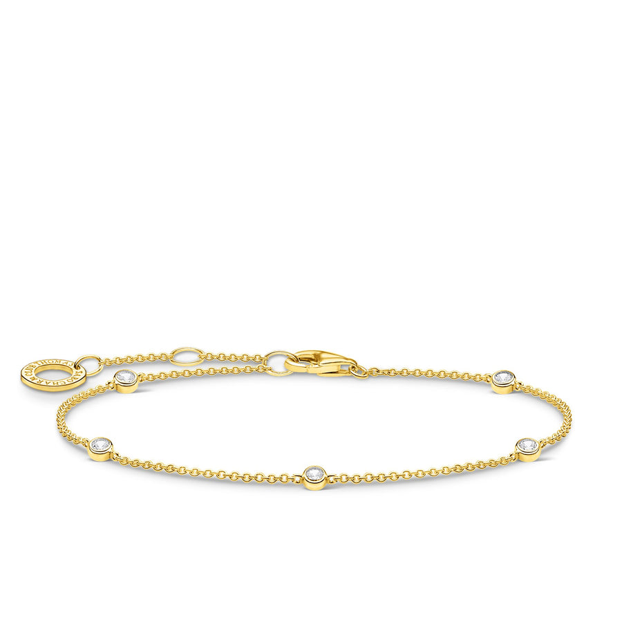 Thomas Sabo Yellow Gold Bracelet with Zirconia Stones A1999-414-14-L19V