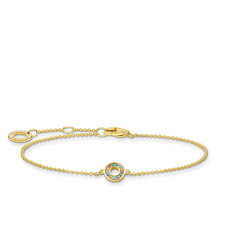 Thomas Sabo Yellow Gold Bracelet with Colourful Stone Centre A2000-488-7-L19V