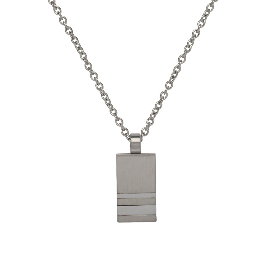 Stainless Steel Pendant incl. Chain AN-97