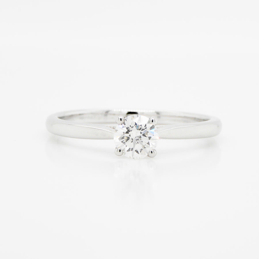 18ct White Gold Diamond Single Solitaire Ring .78ct