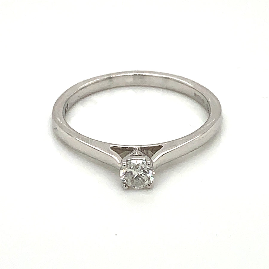 9ct White Gold 0.20ct Solitaire Diamond Ring 9329R020