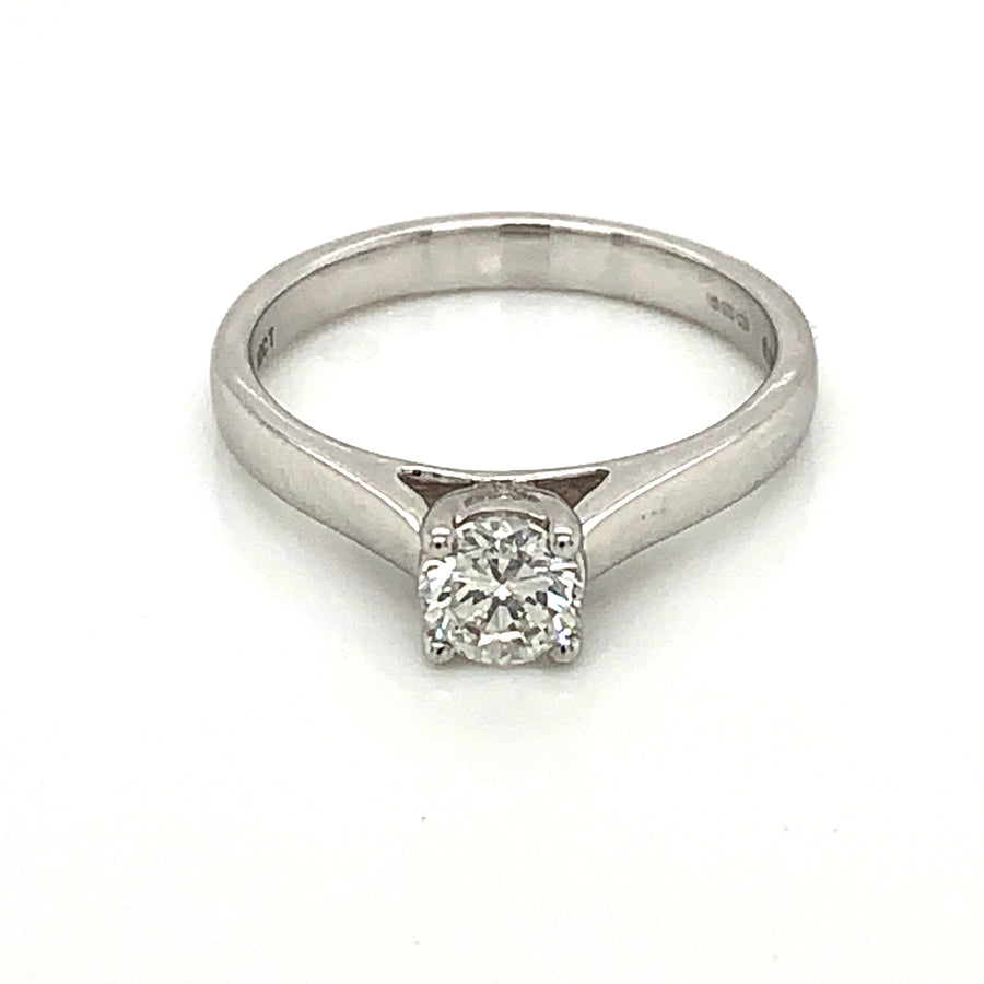 9 ct White Gold 0.50ct Solitaire Diamond Ring 9329R050