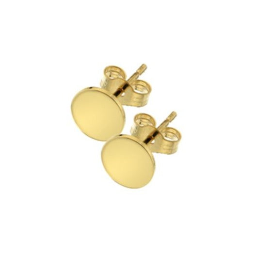 C 9ct Yellow Curteis Collection 11 Solid Disc Earring Studs GCC11E