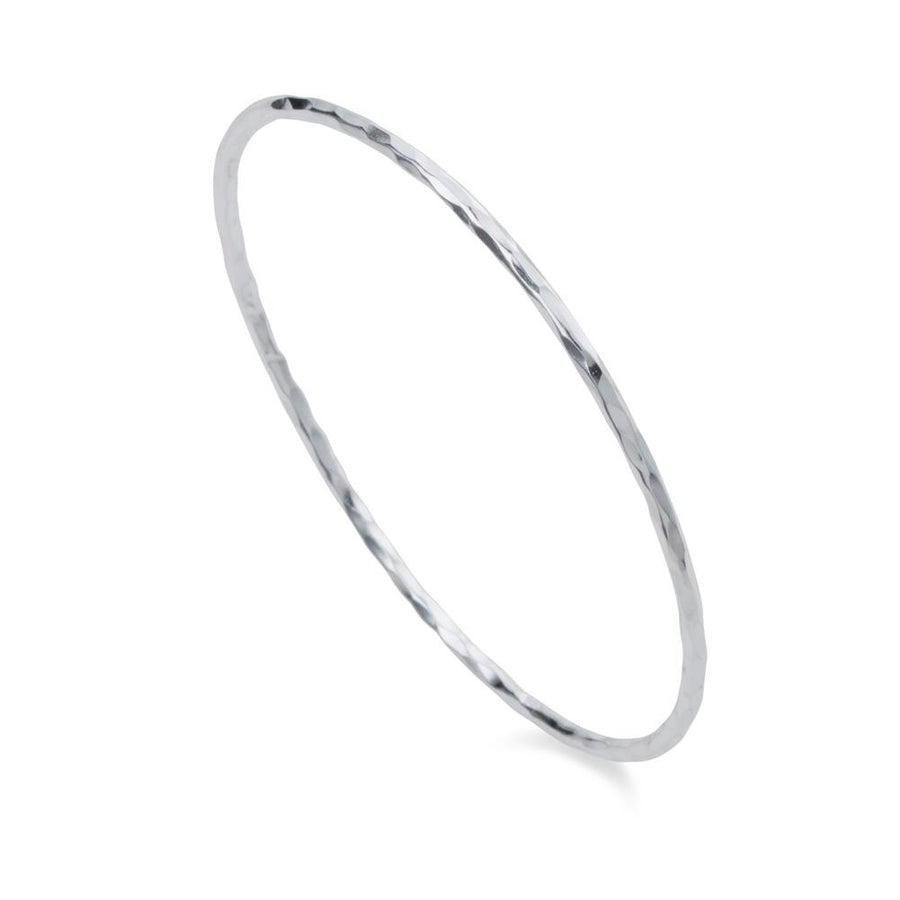 Christin Ranger Hoola Hoop Silver Bangle B008