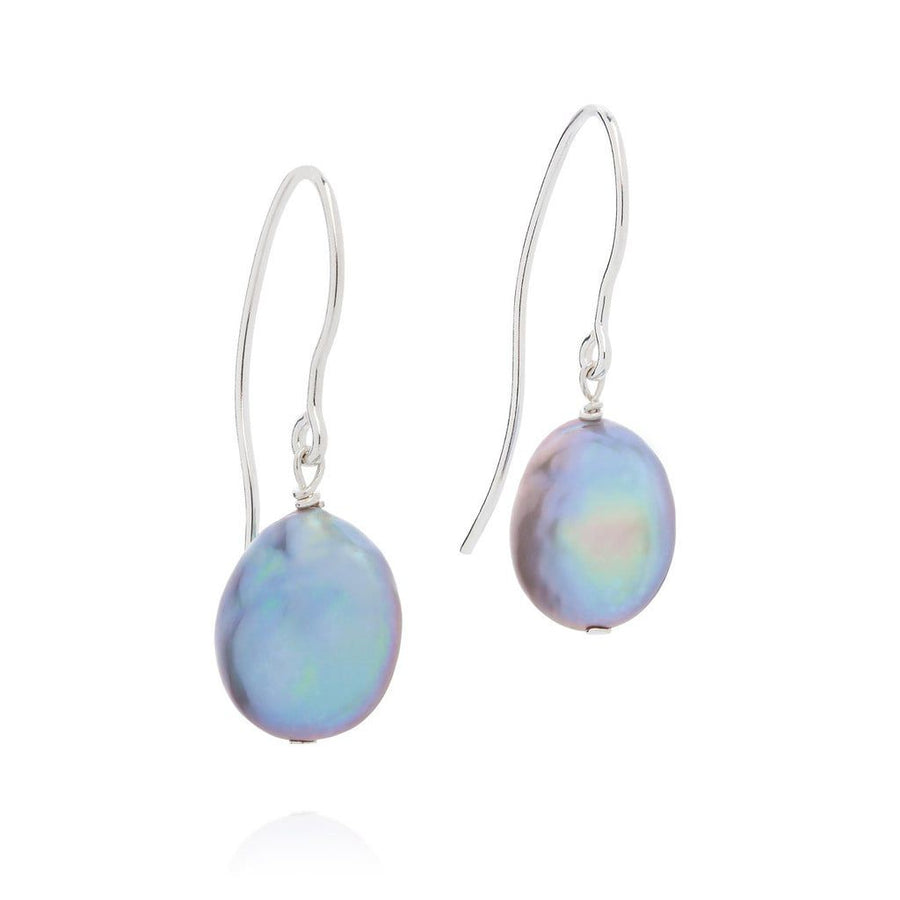 BEDRUTHAN SILVER COIN PEARL EARRINGS CBED0039