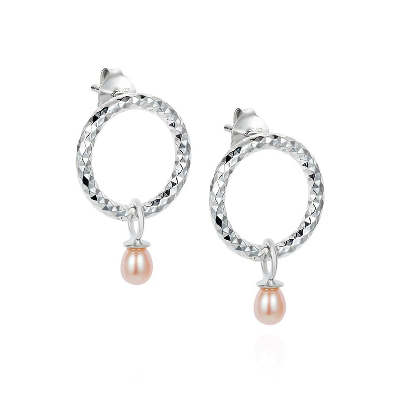 Claudia Bradby Cirque Silver and Pearl stud Earrings CBES0051
