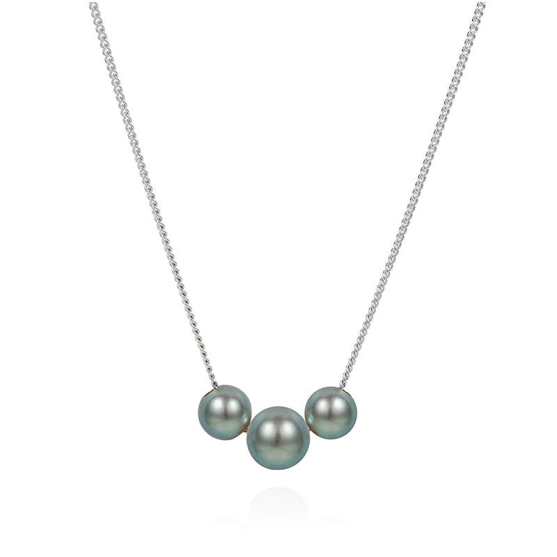 Claudia Bradby Abacus Silver Pearl Necklace CBNL0184
