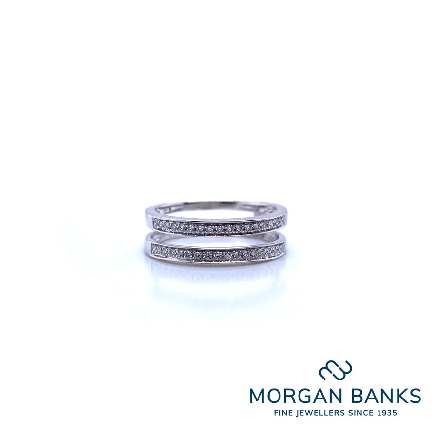 Morgan Banks PT950 0.19ct Diamond Insert Ring CW300013