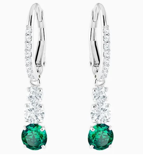 Swarovski Attract Trilogy Green Drop Earrings CZEM/RHS 5414682