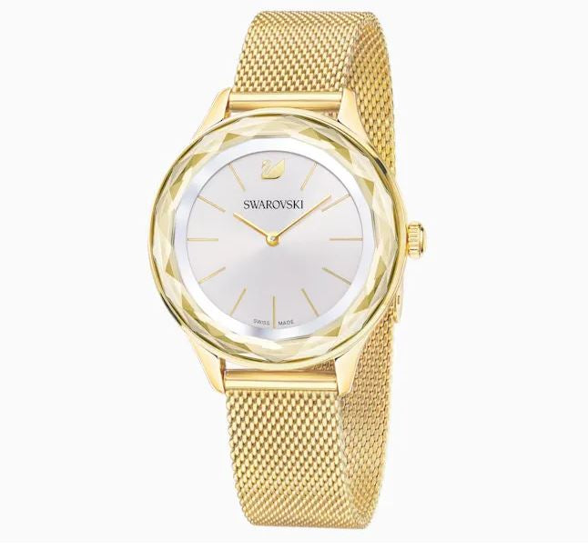Swarovski Octea Nova Gold Tone Watch with Milanese Strap 5430417