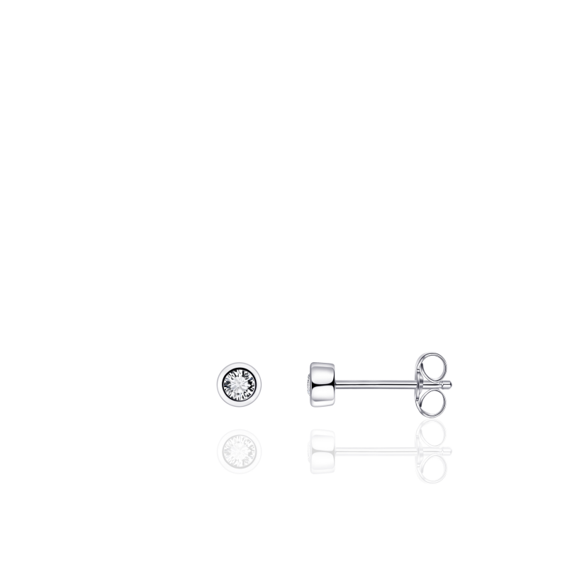 Morgan Banks Silver Ear Studs E1000