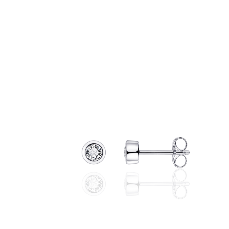 Morgan Banks Silver Ear Studs E1001