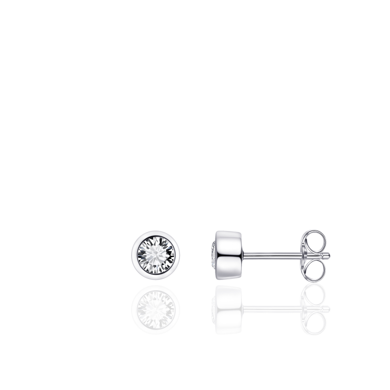 Morgan Banks Silver Ear Studs E1002
