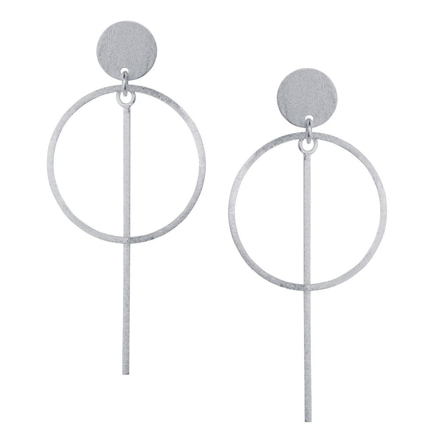 Christin Ranger Circle Bar Drop Earring E213