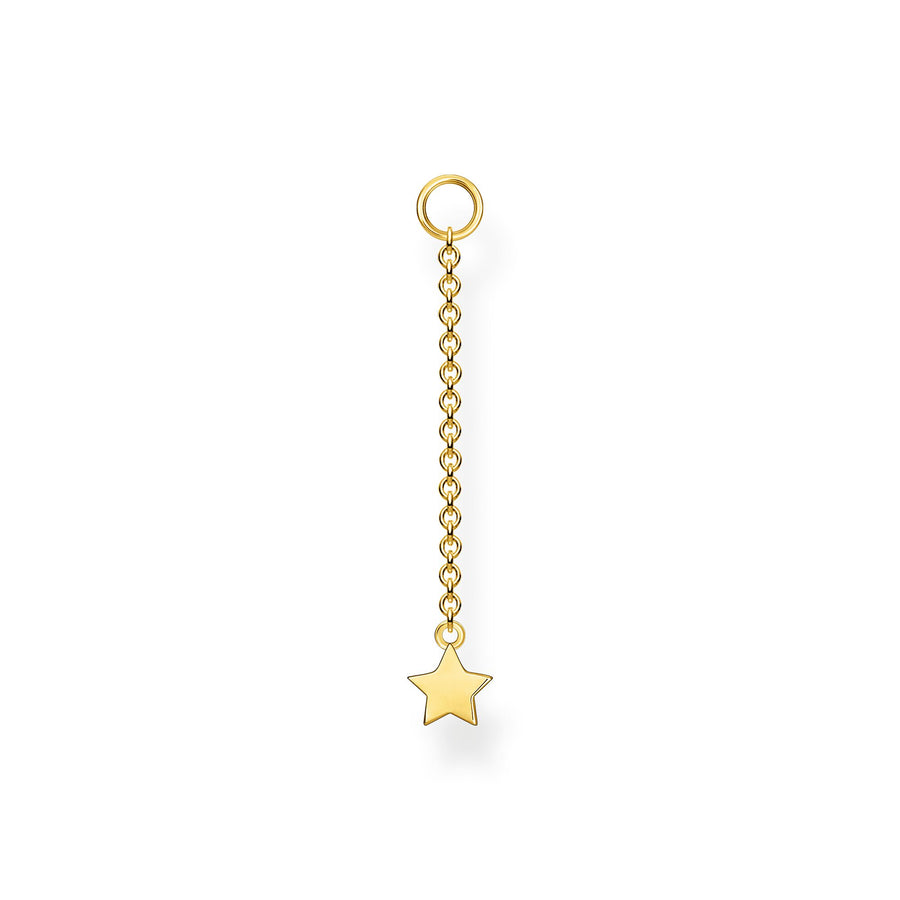 Thomas Sabo Silver Yellow Gold Star Earring Pendant EP005-413-39