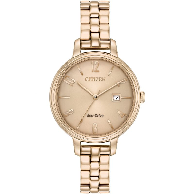 Citizen Ladies Eco-Drive Rose Gold Watch 50m EW2443-55X