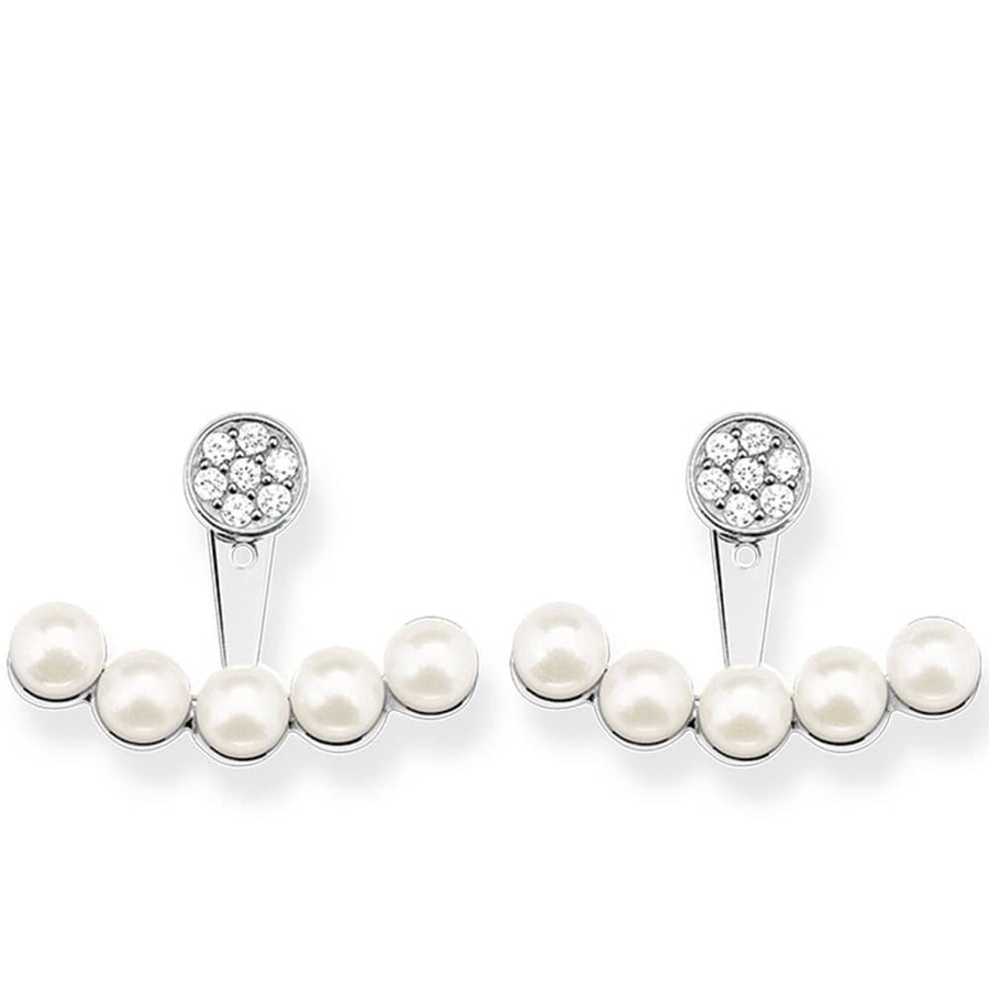 Thomas Sabo Ear Studs Sterling Silver Freshwater Pearl White Zirconia H1906-167-14