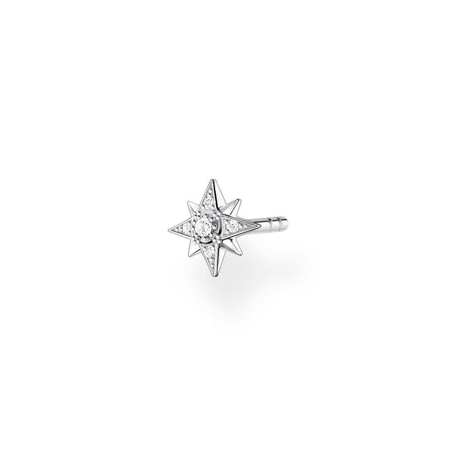 Thomas Sabo Silver Embellished Little Star Ear Stud H2144-051-14