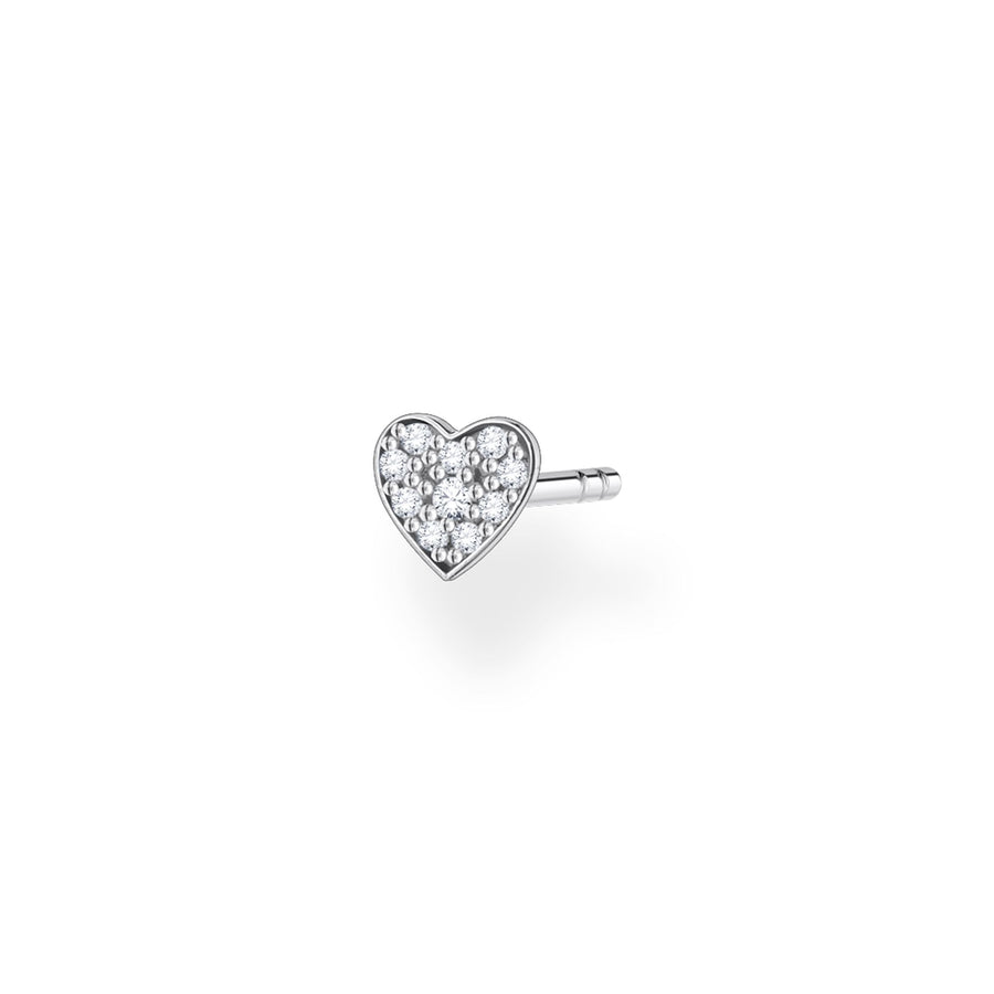 Thomas Sabo Silver Pave Heart Ear Stud H2145-051-14