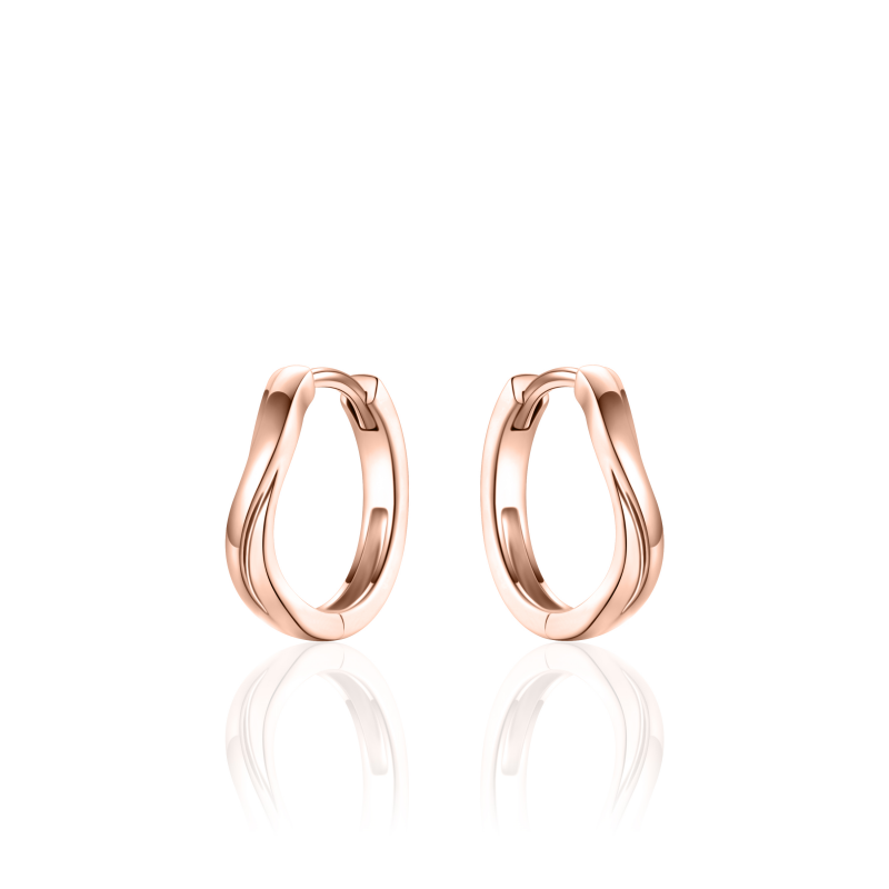 Silver Earrings  Rose gold plated KC072R