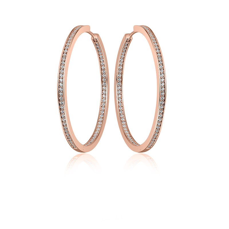 Silver Earrings  Rose gold plated KCE3/50R