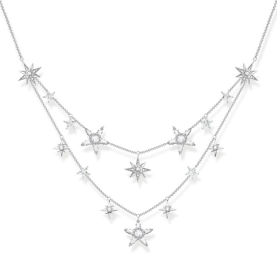 Thomas Sabo Silver Stars Necklace KE1901-051-14-L45V