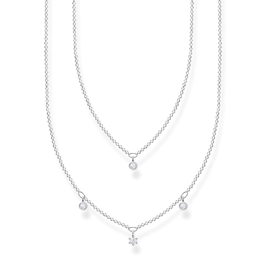 Thomas Sabo Silver Double Row Necklace KE2078-051-14-L45V