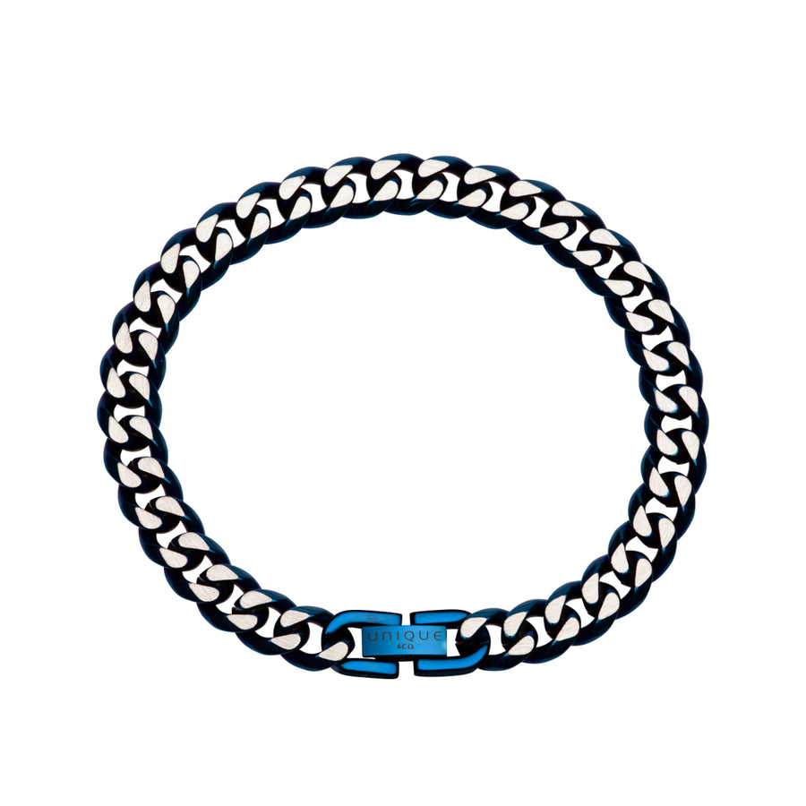 Blue IP Plated Bracelet LAB-158