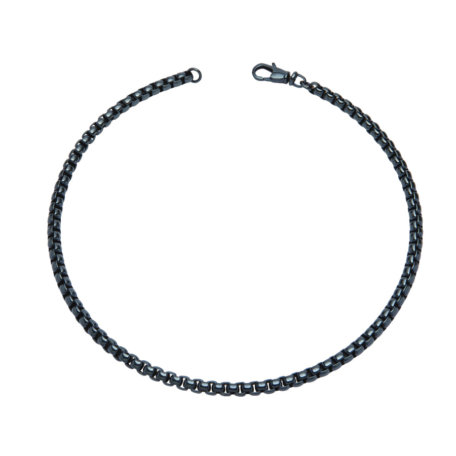 Stainless Steel Necklace with Blue IP Plating LAK-133