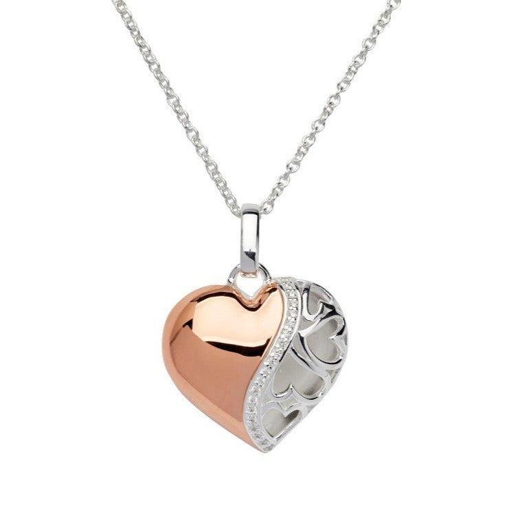Silver 925 Pendant with Rose Gold Plating incl. Chain MK-662
