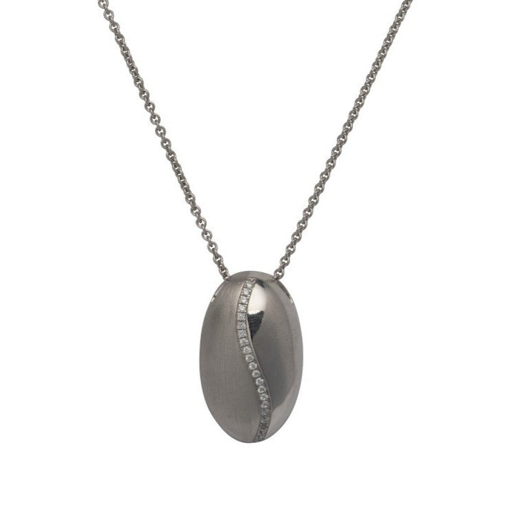 Silver 925 Pendant with Rhodium Plating and CZ incl. Chain MK-716