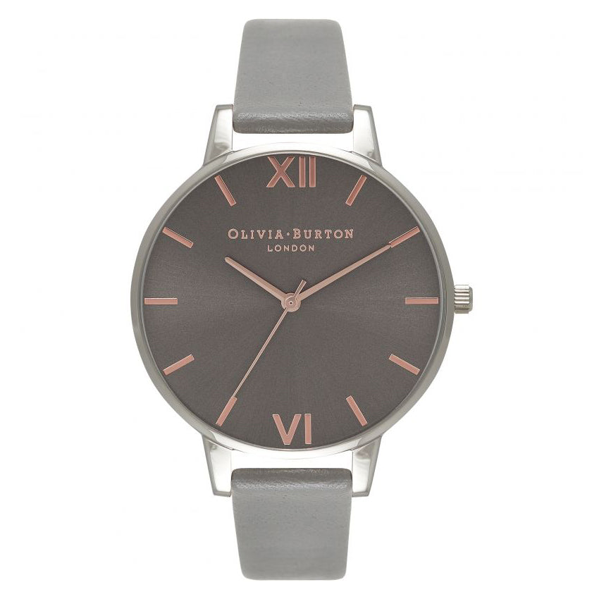 Olivia Burton Grey Dial Silver Rose Gold & Dark Grey Watch OB16BD90