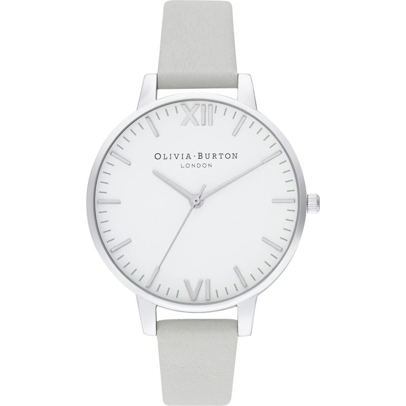 Olivia Burton Timeless Silver & Grey Watch OB16TL12