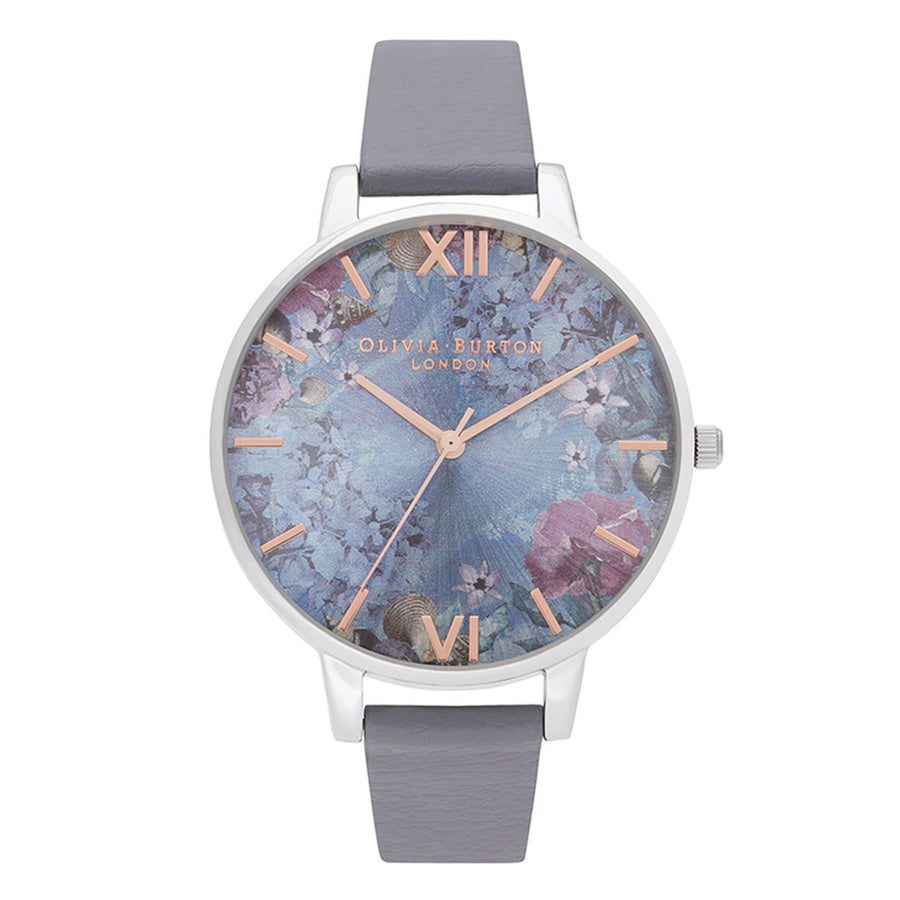 Olivia Burton Under The Sea Floral Eco Deep Sea Blue & Silver OB16US09