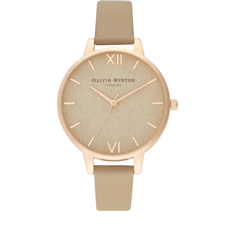 Olivia Burton Woven Dial Toffee & Pale Rose Gold Watch OB16WV01