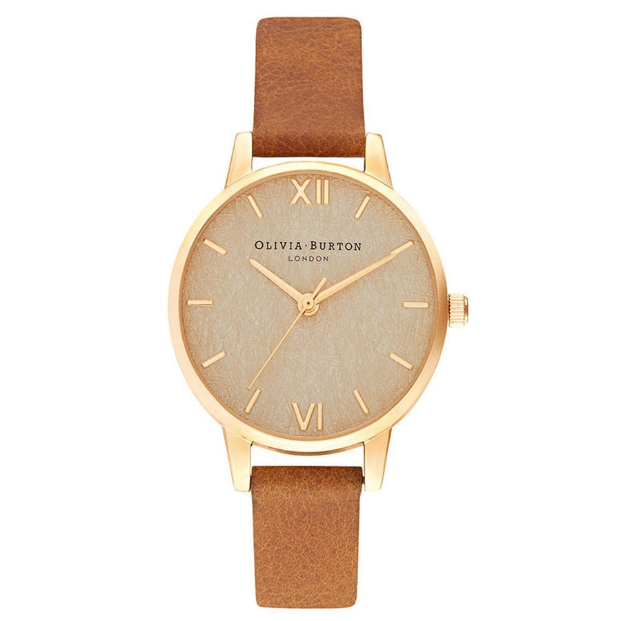 Olivia Burton Woven Dial Honey Tan & Pale Gold Watch OB16WV02