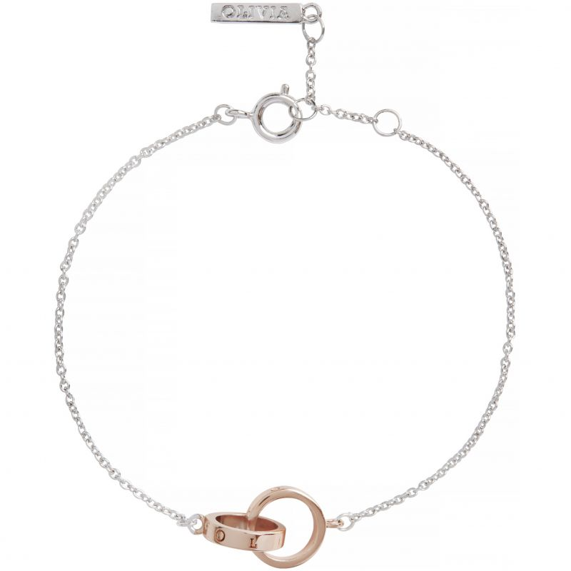 Olivia Burton The Classics Rose Gold Interlink Bracelet OBJ16ENB15B