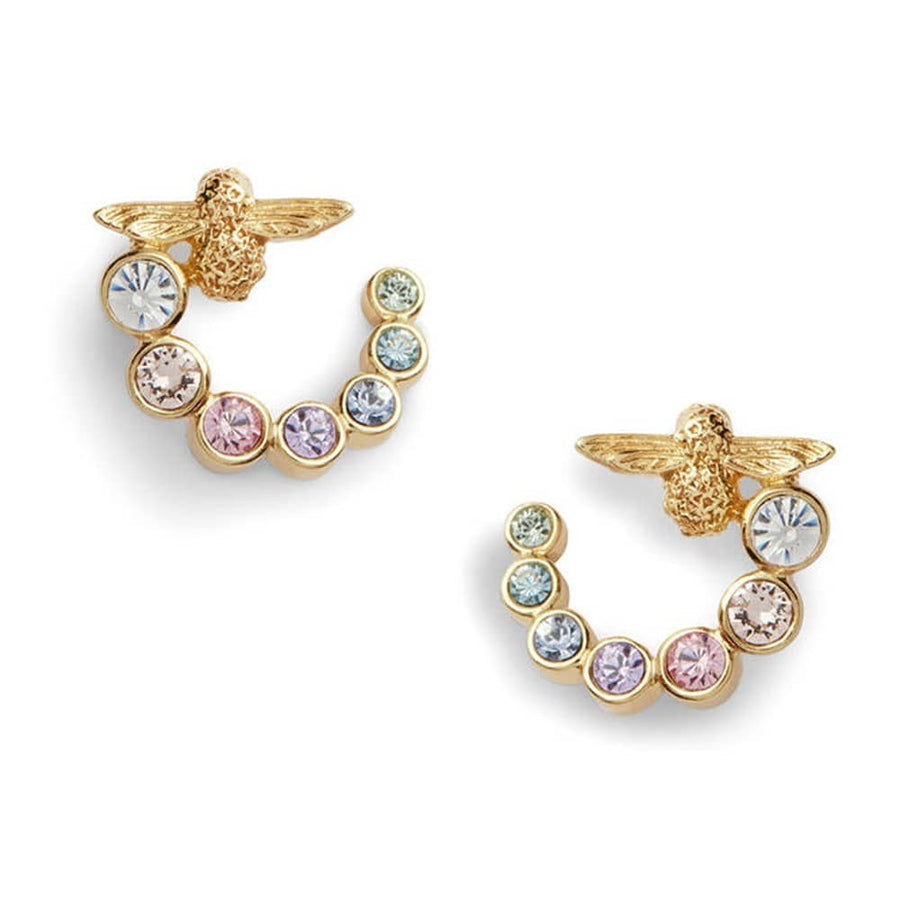 Olivia Burton Rainbow Bee Curl Earrings Gold OBJAME132