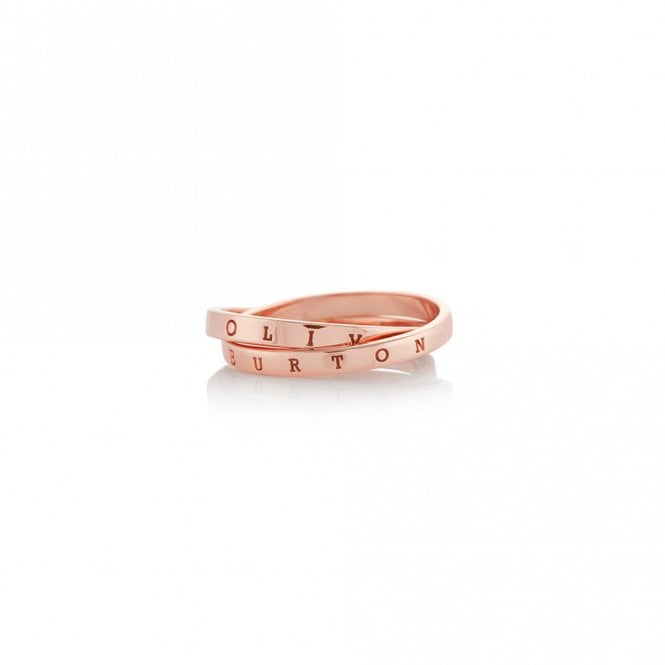 Olivia Burton The Classics Interlink Ring Rose Gold OBJCOR24B