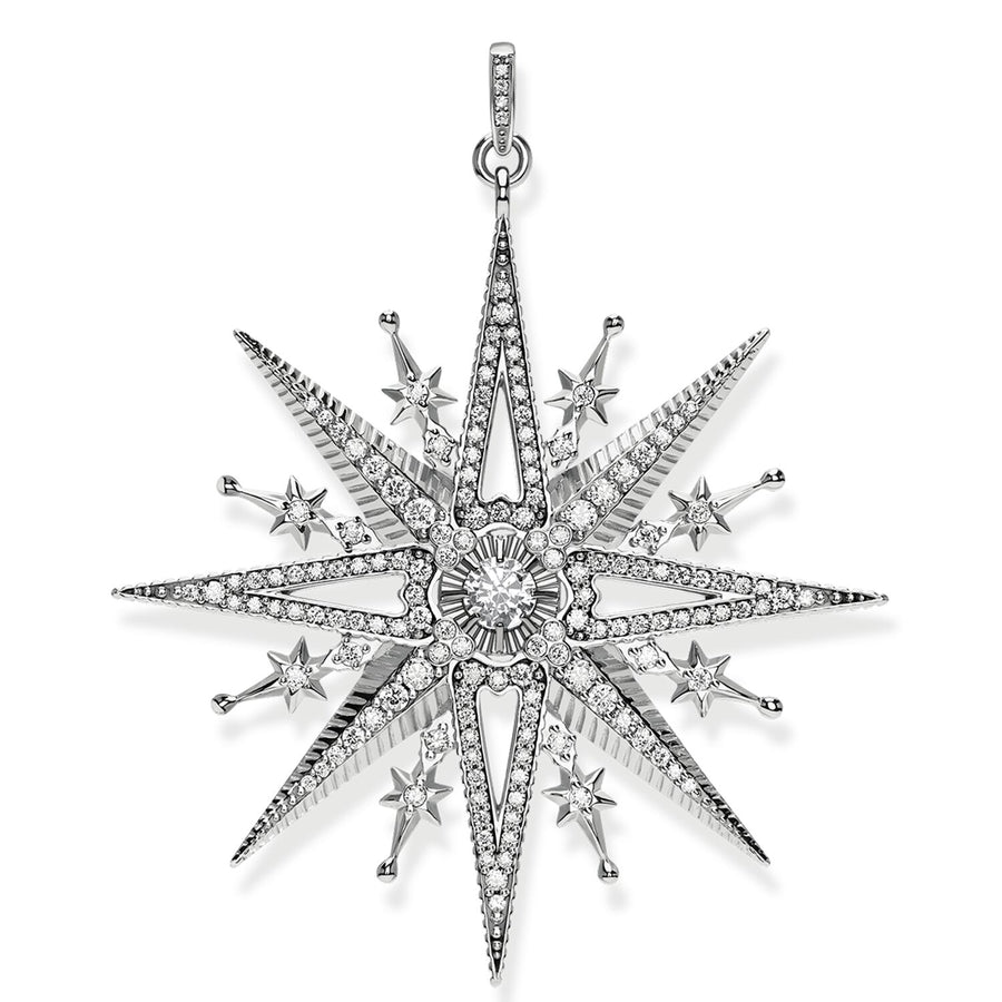 Thomas Sabo Royalty Silver Star Pendant PE819-643-14