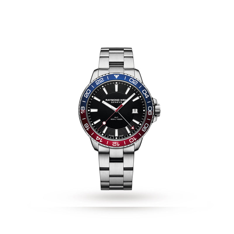 Raymond Weil Gents Tango Blue/Red Bi-Colour Dial Chronograph Quartz Watch 8280-ST3-20001