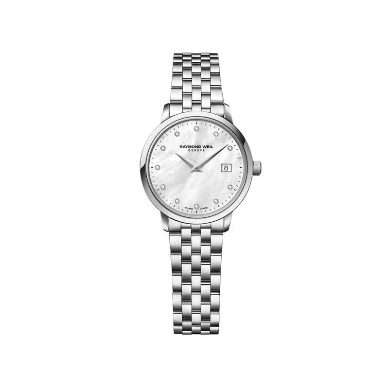 Raymond Weil Ladies Toccata White Mother-of-Pearl Diamond Quartz Watch 5985-ST-97081