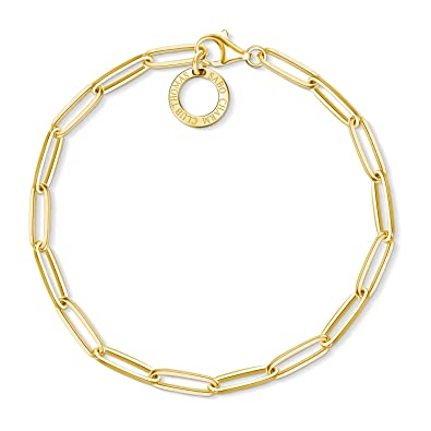 Thomas Sabo Charm bracelet  X0253-413-39-L17,925 Sterling silver, gold plated yellow gold  17 cm